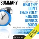 Mark H. McCormack's What They Don't Teach You at Harvard Business School: Notes from a Street-Smart Executive Summary (Unabridged) MP3 Audiobook