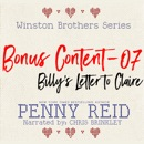 Winston Brothers Bonus Content - 07: Billy's letter to Claire MP3 Audiobook