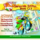 Geronimo Stilton: Books 1-3: #1: Lost Treasure of the Emerald Eye; #2: The Curse of the Cheese Pyramid; #3: Cat and Mouse in a Haunted House (Unabridged) mp3 descargar