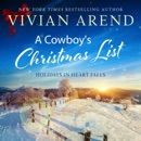 A Cowboy's Christmas List: Holidays in Heart Falls, Book 4 (Unabridged) MP3 Audiobook
