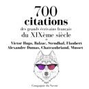 700 citations des grands écrivains français du XIXème siècle MP3 Audiobook