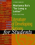 """A Study Guide for Mariama Ba's """"So Long a Letter"""" book summary, reviews and downlod"""