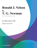 Ronald J. Nelson v. T. G. Newman book summary, reviews and downlod