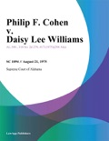 Philip F. Cohen v. Daisy Lee Williams book summary, reviews and downlod