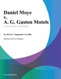 Daniel Moye v. A. G. Gaston Motels book summary, reviews and downlod