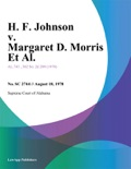 H. F. Johnson v. Margaret D. Morris Et Al. book summary, reviews and downlod