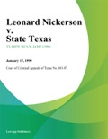 Leonard Nickerson v. State Texas book summary, reviews and downlod