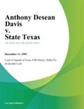Anthony Desean Davis v. State Texas book summary, reviews and downlod