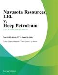 Navasota Resources, Ltd. v. Heep Petroleum, Inc. book summary, reviews and downlod
