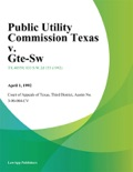Public Utility Commission Texas v. Gte-Sw book summary, reviews and downlod