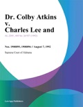 Dr. Colby Atkins v. Charles Lee and book summary, reviews and downlod