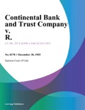 Continental Bank and Trust Company v. R. book summary, reviews and downlod