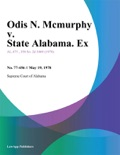 Odis N. Mcmurphy v. State Alabama. Ex book summary, reviews and downlod