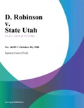 D. Robinson v. State Utah book summary, reviews and downlod
