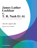James Luther Locklear v. T. R. Nash Et Al. book summary, reviews and downlod