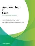 ASEP USA, Inc. v. Cole book summary, reviews and downlod