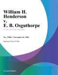 William H. Henderson v. E. B. Osguthorpe book summary, reviews and downlod