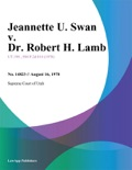 Jeannette U. Swan v. Dr. Robert H. Lamb book summary, reviews and downlod