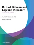 R. Earl Dillman and Lejeune Dillman V. book summary, reviews and downlod