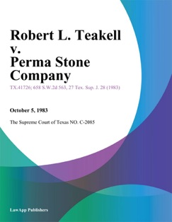Robert L. Teakell v. Perma Stone Company E-Book Download
