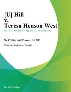 Hill v. Teresa Henson West E-Book Download