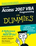 Access 2007 VBA Programming For Dummies book summary, reviews and download