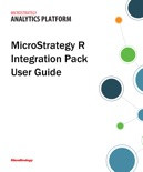 MicroStrategy R Integration Pack User Guide book summary, reviews and download