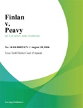 Finlan v. Peavy book summary, reviews and downlod