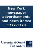 New York newspaper advertisements and news items: 1777-1779 book summary, reviews and downlod