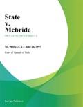 State V. Mcbride book summary, reviews and downlod