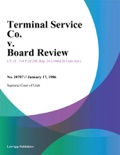 Terminal Service Co. v. Board Review book summary, reviews and downlod