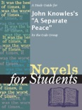"""A Study Guide for John Knowles's """"A Separate Peace"""" book summary, reviews and downlod"""
