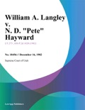 William A. Langley v. N. D. Pete Hayward book summary, reviews and downlod