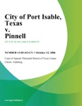 City of Port Isable, Texas v. Pinnell book summary, reviews and downlod