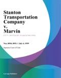 Stanton Transportation Company v. Marvin book summary, reviews and downlod