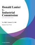 Donald Lanier v. Industrial Commission book summary, reviews and downlod
