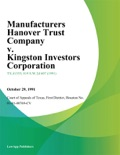 Manufacturers Hanover Trust Company v. Kingston Investors Corporation book summary, reviews and downlod