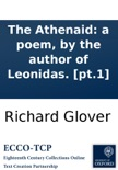The Athenaid: a poem, by the author of Leonidas. [pt.1] book summary, reviews and downlod