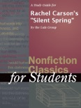 """A Study Guide for Rachel Carson's """"Silent Spring"""" book summary, reviews and downlod"""