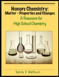 Honors Chemistry: Matter - Properties and Changes book summary, reviews and download