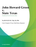 John Howard Green v. State Texas book summary, reviews and downlod