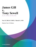 James Gill v. Tony Sewell book summary, reviews and downlod