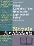 """A Study Guide for Milan Kundera's """"The Unbearable Lightness of Being"""" book summary, reviews and downlod"""