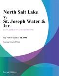 North Salt Lake v. St. Joseph Water & Irr. book summary, reviews and downlod