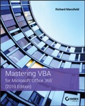 Mastering VBA for Microsoft Office 365 book summary, reviews and download
