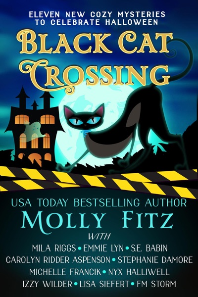 Black Cat Crossing: A Collection of 11 Cozy Mysteries to Celebrate Halloween by Molly Fitz, Emmie Lyn, S.E. Babin, Mila Riggs, Carolyn Ridder Aspenson, Stephanie Damore, Michelle Francik, Nyx Halliwell, Izzy Wilder, Lisa Siefert & F.M. Storm Book Summary, Reviews and E-Book Download