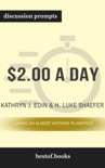 $2.00 a Day: Living on Almost Nothing in America by Kathryn J. Edin & H. Luke Shaefer (Discussion Prompts) book summary, reviews and downlod