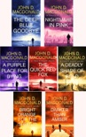 John D. MacDonald Travis McGee Series collection 7 Book set 1: The Deep Blue Good-by, Nightmare in Pink, A Purple Place for Dying, The Quick Red Fox, A Deadly Shade of Gold, Bright Orange for the Shroud, Darker Than Amber. book summary, reviews and download
