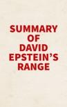 Summary of David Epstein's Range book summary, reviews and downlod