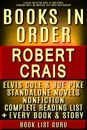 Robert Crais Books in Order: Elvis Cole and Joe Pike series, all short stories, standalone novels, and nonfiction, plus a Robert Crais Biography.